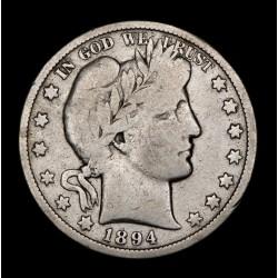 Estados Unidos 1/2 Dolar Barber 1894O KM116 Ag B+