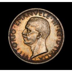 Italia 5 Liras 1928 R KM67.1 Ag EXC