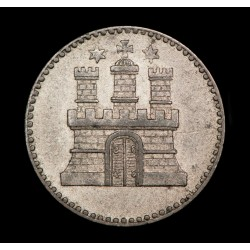 Alemania Hamburgo 1 Dreiling 1855 KM582 Ag EXC