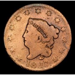 Estados Unidos 1 Centavo 1817 KM45 Cobre B-