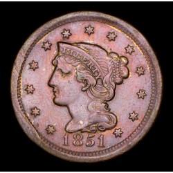 Estados Unidos 1 Centavo 1851 KM67 Cobre EXC-