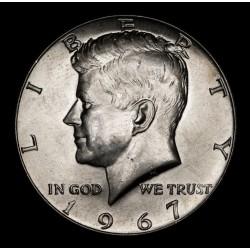 Estados Unidos 1/2 Dolar Kennedy 1967 KM202a Ag UNC