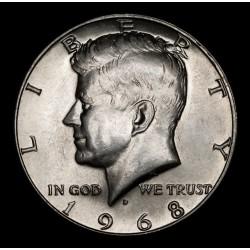Estados Unidos 1/2 Dolar Kennedy 1968D KM202a Ag UNC