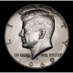 Estados Unidos 1/2 Dolar Kennedy 1969D KM202a Ag UNC