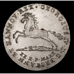 Alemania Hannover 16 Gute Groschen 1825 KM138 Ag EXC+