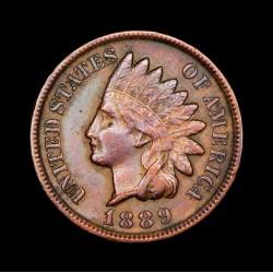 Estados Unidos 1 Centavo 1889 KM90a Cobre EXC+