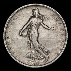 Francia 1 Franco 1909 KM844.1 Ag MB+