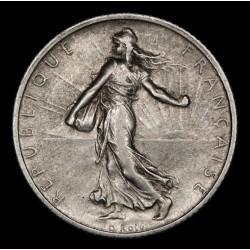 Francia 1 Franco 1915 KM844.1 Ag EXC