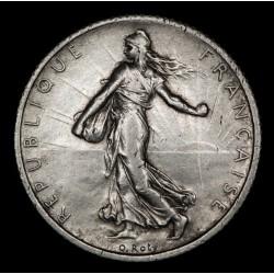 Francia 1 Franco 1916 KM844.1 Ag MB+