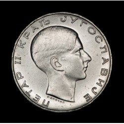 Yugoeslavia 50 Dinara 1938 KM24 Ag EXC+