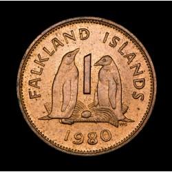 Islas Malvinas 1 Penny 1980 KM2 Bronce EXC