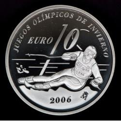 España 10 Euro 2005 KM1064 Juegos de Invierno Sky Ag Proof UNC