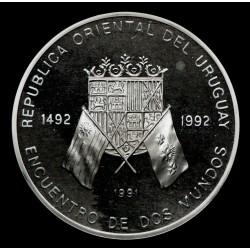 Uruguay 50000 N$ 1991 I Serie Iberoamericana Ag UNC