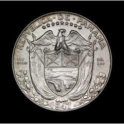 Panama 1/10 Balboa 1947 KM10.1 Ag EXC+