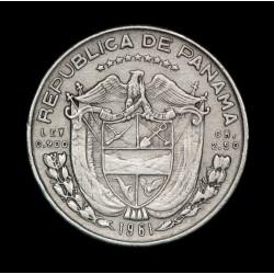 Panama 1/10 Balboa 1961 KM24 Ag MB+