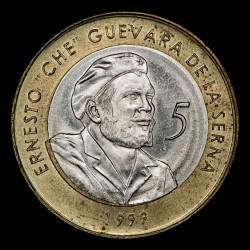 Cuba 5 Pesos 1999 KM730 Che Guevara Bimetalica EXC+
