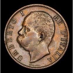 Italia 10 centesimi 1894BI KM27.1 Cobre MB/EXC