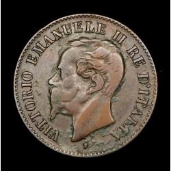 Italia 2 Centesimi 1861M KM2.1 Cobre MB+