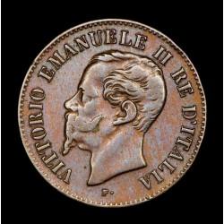 Italia 2 Centesimi 1867M KM2.1 Cobre EXC
