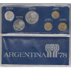 Blister de 6 Monedas Mundial 1978 Cuño 1977