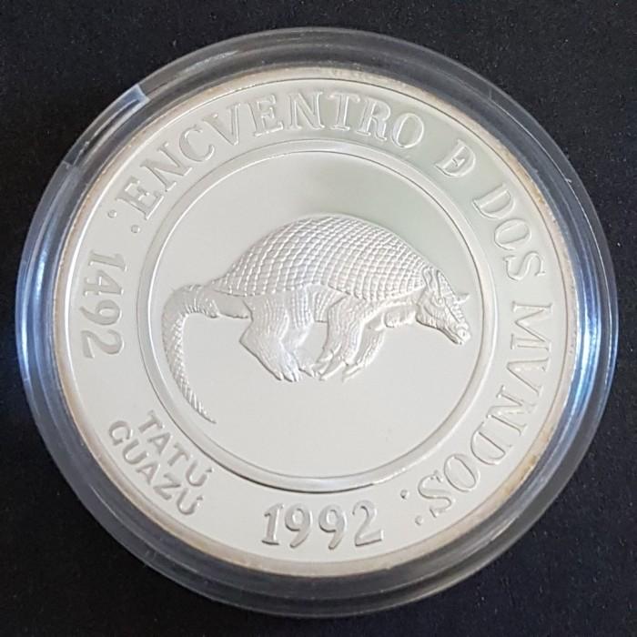 25 Pesos Tatú Guazú - Plata Proof - 2da Serie Iberoamericana