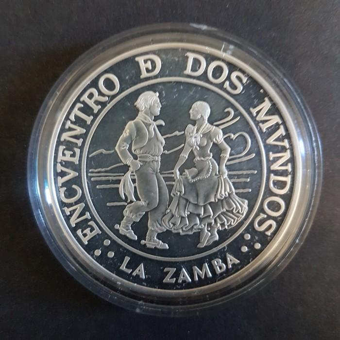 25 Pesos 1997 La Zamba - Plata Proof - 3ra Serie Iberoamericana