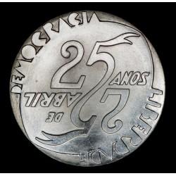 Portugal 1000 Escudos 1999 KM715 Revolucion de Abril Ag UNC