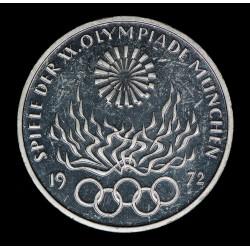 Alemania 10 Marcos 1972 F KM135 Juegos Olimpicos de Munich Ag UNC
