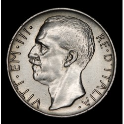 Italia 10 Liras 1927R KM68.1 Ag MB+