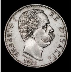 Italia 2 Liras 1886R KM23 Ag EXC