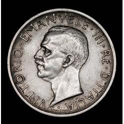 Italia 5 Liras 1927R KM67.1 Ag EXC-