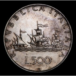 Italia 500 Liras 1958R KM99 Ag EXC+