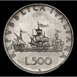 Italia 500 Liras 1964R KM98 Ag EXC+