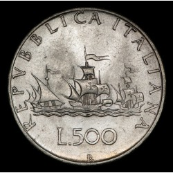 Italia 500 Liras 1966R KM98 Ag EXC+