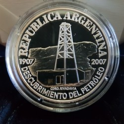 1 Peso 2007 Descubrimiento del Petroleo - Plata Proof