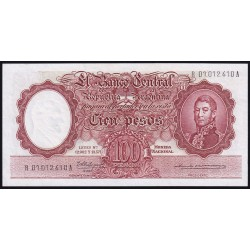REPOSICION B2067 100 Pesos 1963 MN Fabregas - Otero Monsegur FILC UNC