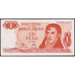 REPOSICION B2314 1 Pesos 1972/73 Ley 18.188 Mancini - Bermudez Emparanza EXC-