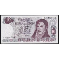 REPOSICION B2360 10 Pesos 1976 Ley 18.188 Porta - Mondelli F1 UNC