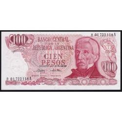 REPOSICION B2400 100 Pesos 1974/75 Ley 18.188 Mondelli - Cairoli F1 UNC