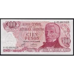 REPOSICION B2403b 100 Pesos 1975/76 Ley 18.188 Porta - Mondelli F2 C/Hilos UNC