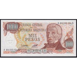 REPOSICION B2455a 1000 Pesos 1979/80 Ley 18.188 Lopez - Diz F2 Marron UNC
