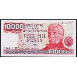 REPOSICION B2489 10000 Pesos 1977/79 Ley 18.188 Camps - Diz F1 UNC
