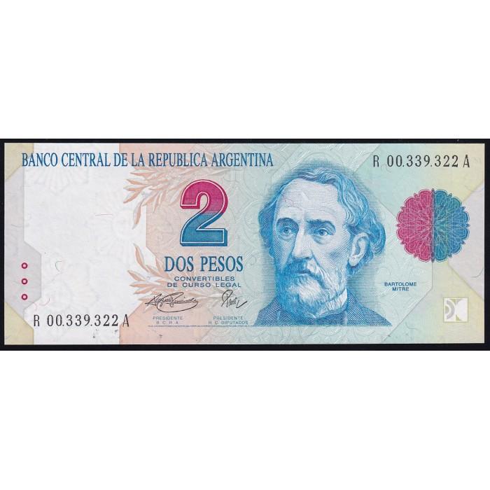 REPOSICION B3020 2 Pesos 1993/96 Fernandez - Pierri F3C UNC