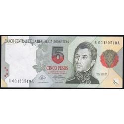 REPOSICION B3026 5 Pesos 1992/94 Murolo - Fernandez F3B UNC