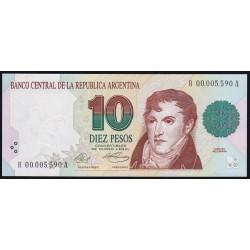 REPOSICION B3041 10 Pesos 1992/94 Murolo - Fernandez F5C UNC