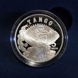 5 Pesos 2013 El Tango - Plata Proof - Fabulosos 15