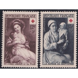Francia Yv-966/967 Mint Serie completa