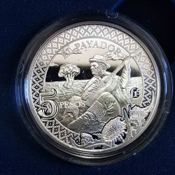 5 Pesos 2014 El Payador - Plata Proof - Fabulosos 15