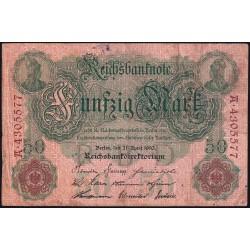 Alemania Reich 50 Marcos 1910 P41 B/MB