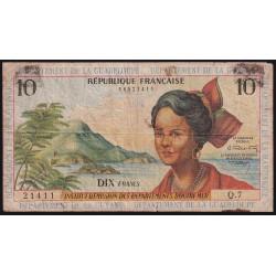 Antillas Francesas 10 Francos 1964 P8b B-
